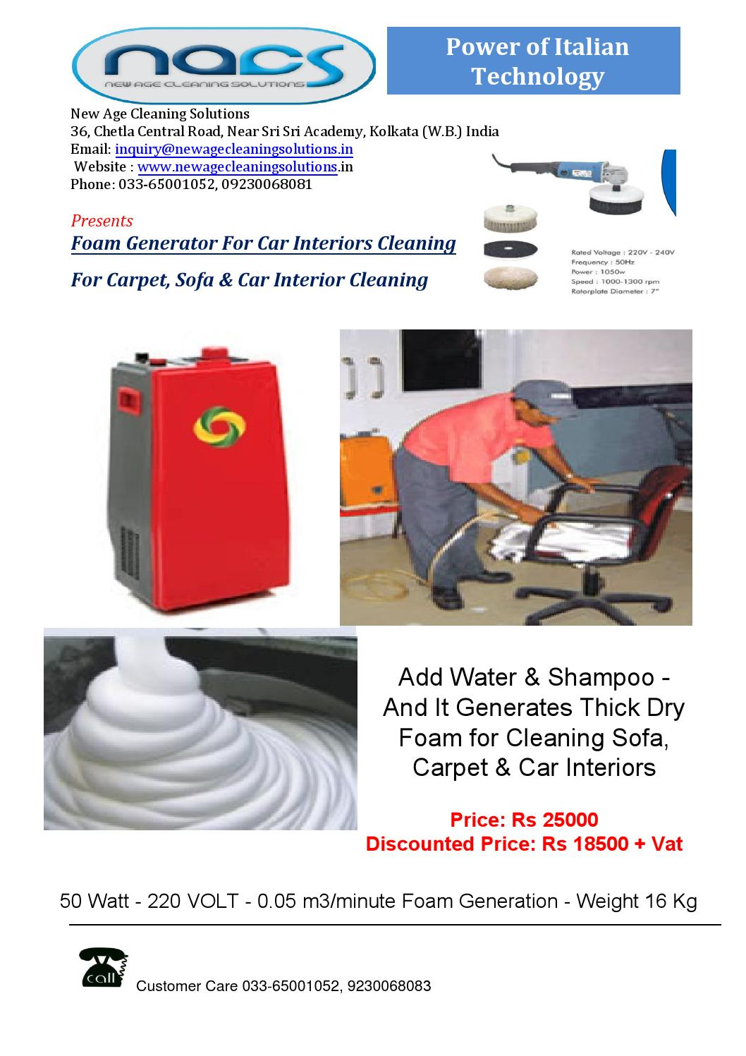 snow dry foam generator for car interior cleaning by new age cleaning solutions kolkata issuu. Black Bedroom Furniture Sets. Home Design Ideas