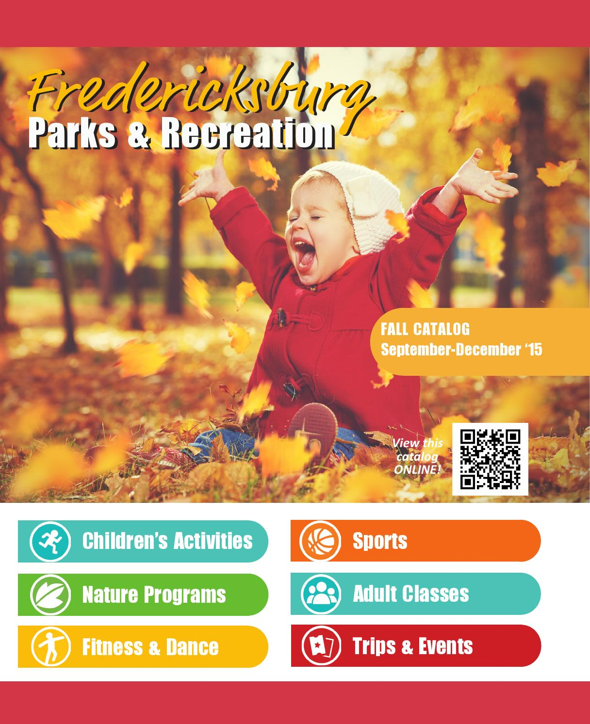 Fredericksburg Parks And Recreation 2015 Fall Amp Winter