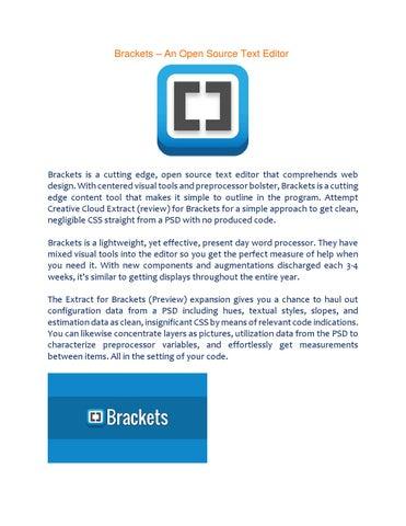 Brackets – An Open Source Text Editor by Shahriar Kabir - issuu