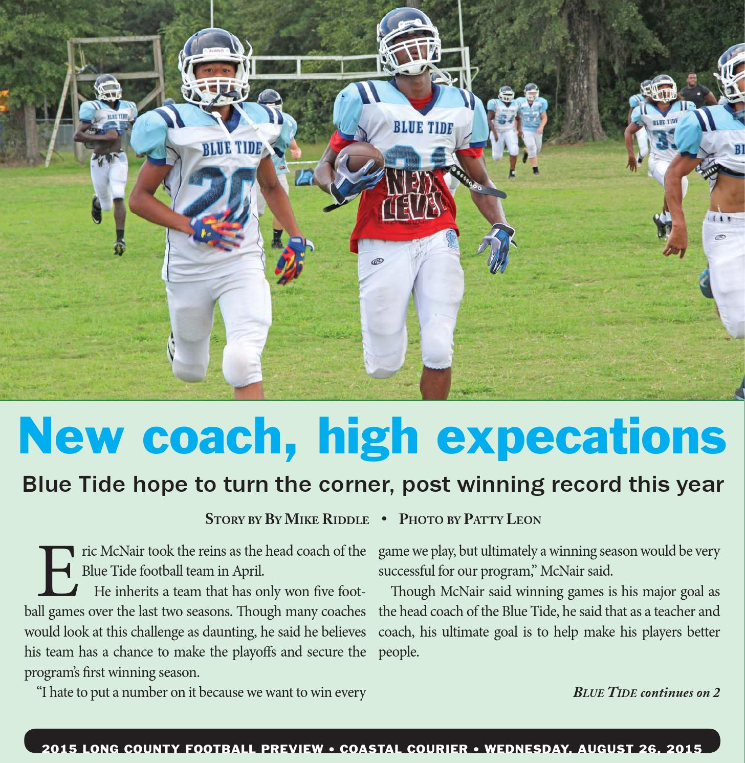 Long County Football 2015 By Coastal Courier