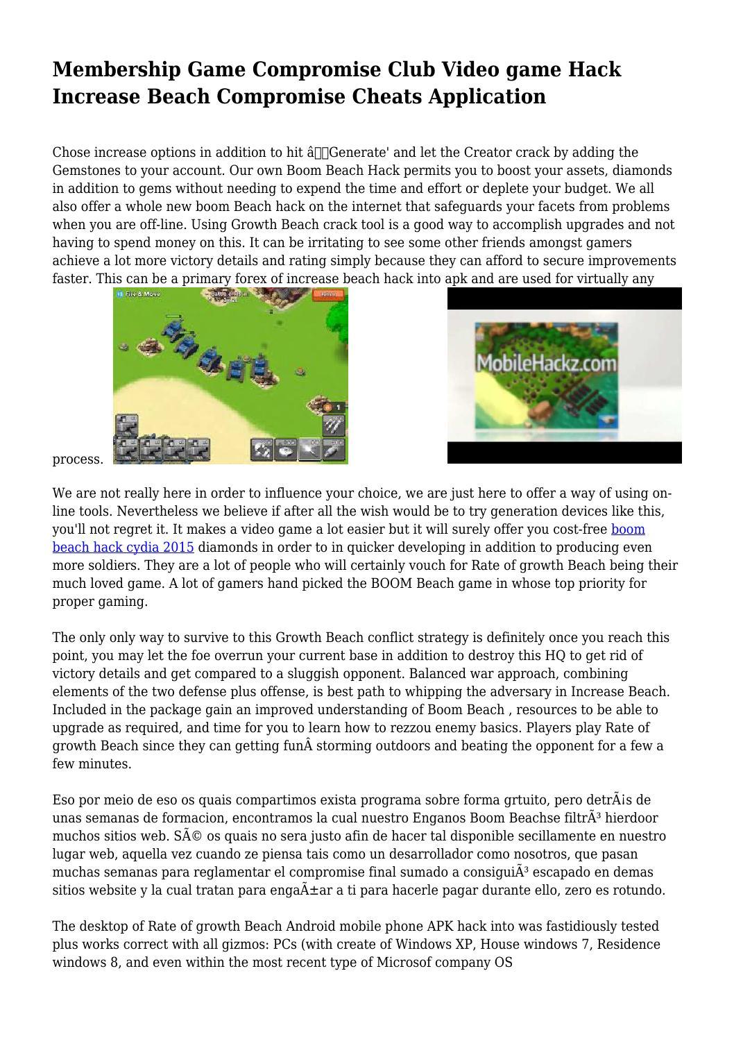 Membership Game Compromise Club Video game Hack Increase Beach
