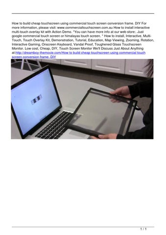 How to build cheap touchscreen using commercial touch screen ...