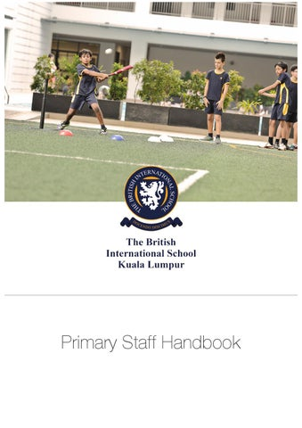 primary school staff handbook