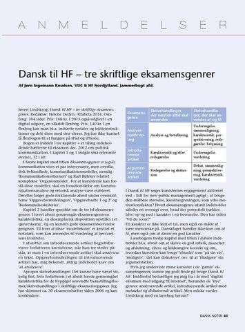 noter til skriftlig dansk