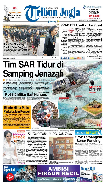 Tribunjogja 19 08 2015 By Tribun Jogja Issuu Jam Tangan Pria Qampampq De10 Original Bergaransi