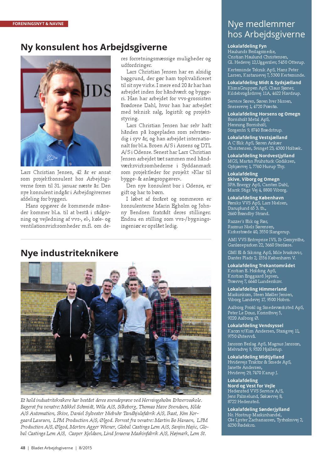 Bladet Arbejdsgiverne nr. 8, 2015 by Magasinet Arbejdsgiverne - Issuu