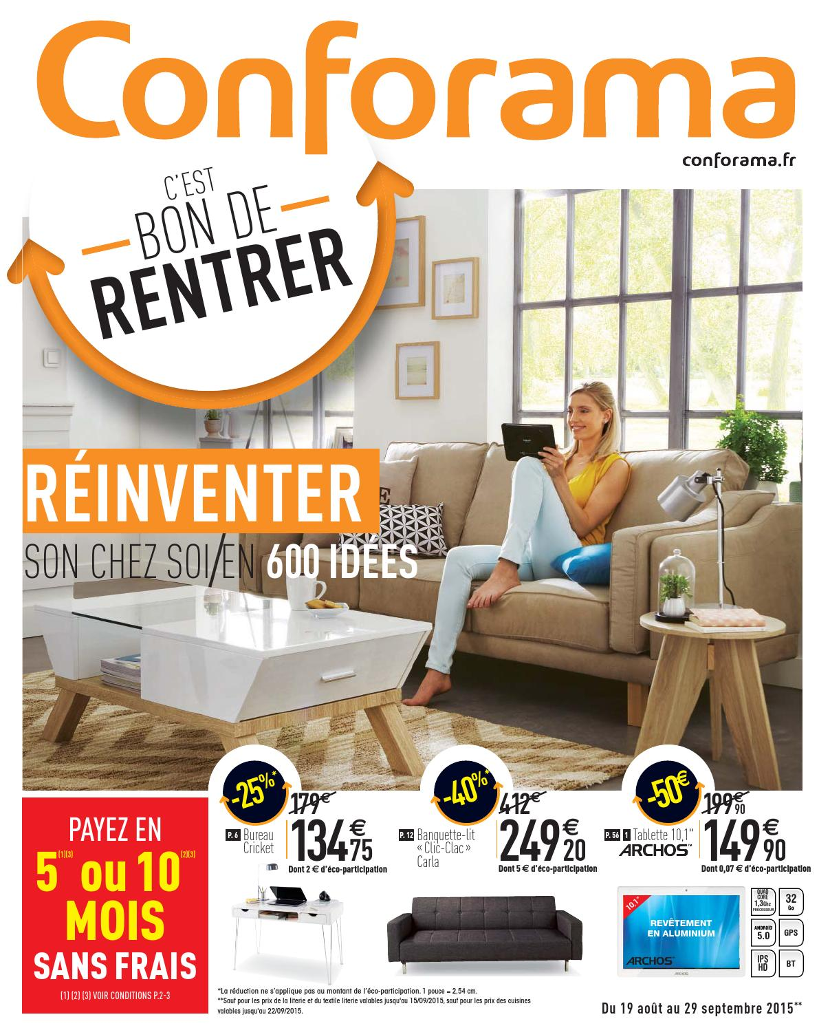 Conforama catalogue 19aout 29septembre2015 by ...