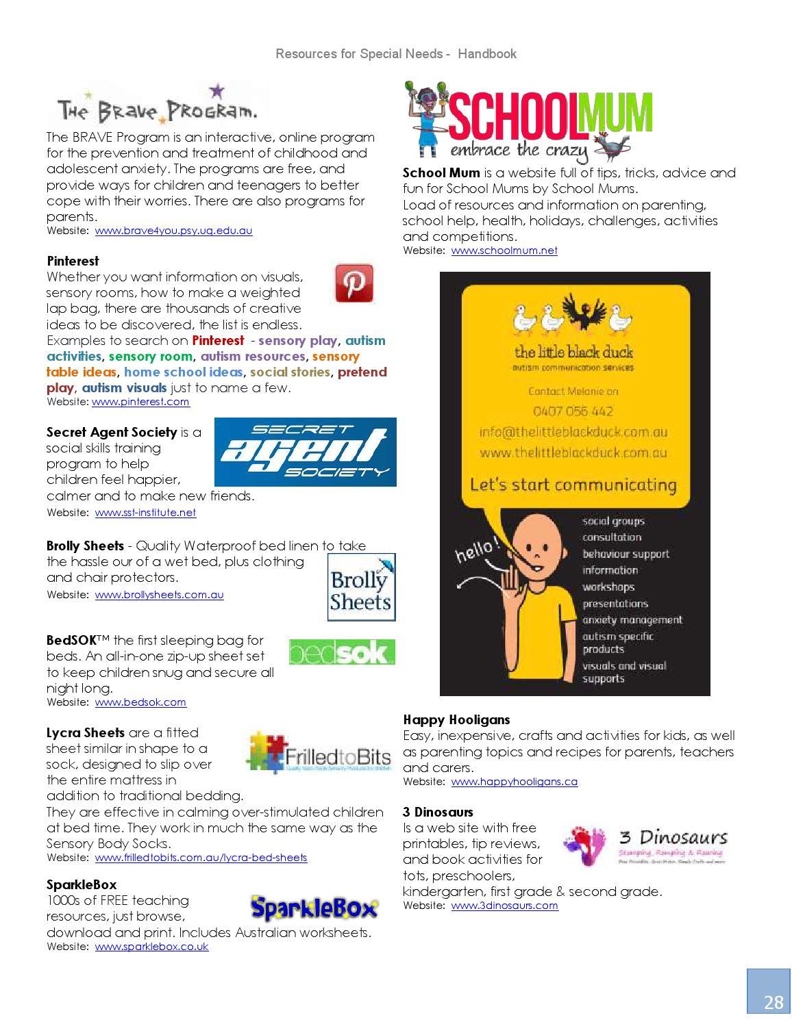 Online Handbook For Special Needs >> Resources For Special Needs Handbook 2015 By Autism World
