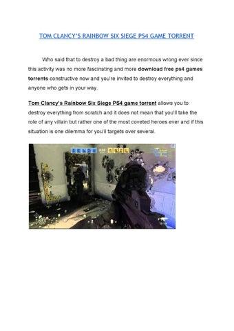 Tom clancy's rainbow six siege ps4 game torrent (1) by Tom