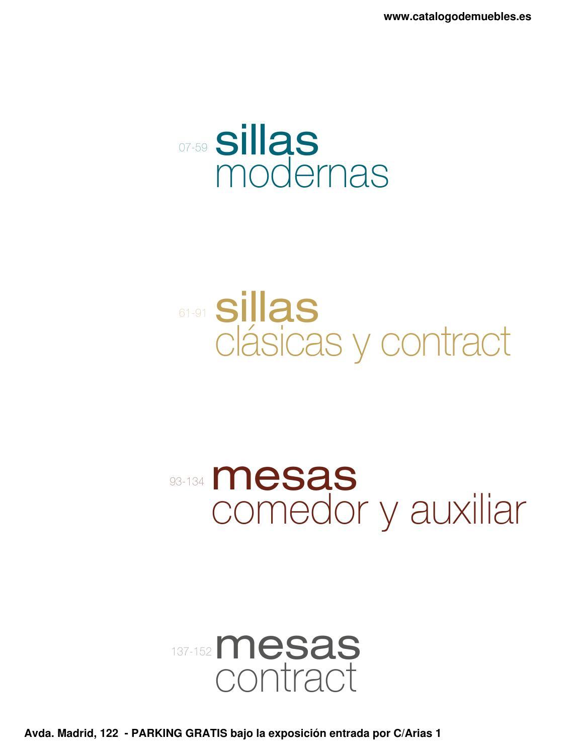 Cat Logo Mesas Sillas By Cat Logo De Muebles Novedades Delicias  # Muebles Vega Delicias