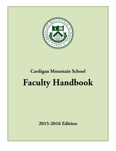 Faculty handbook for cardigan mountain school by cardigan mountain page 1 fandeluxe Gallery