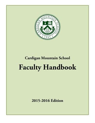 Faculty handbook for cardigan mountain school by cardigan mountain page 1 cardigan mountain school faculty handbook fandeluxe Images