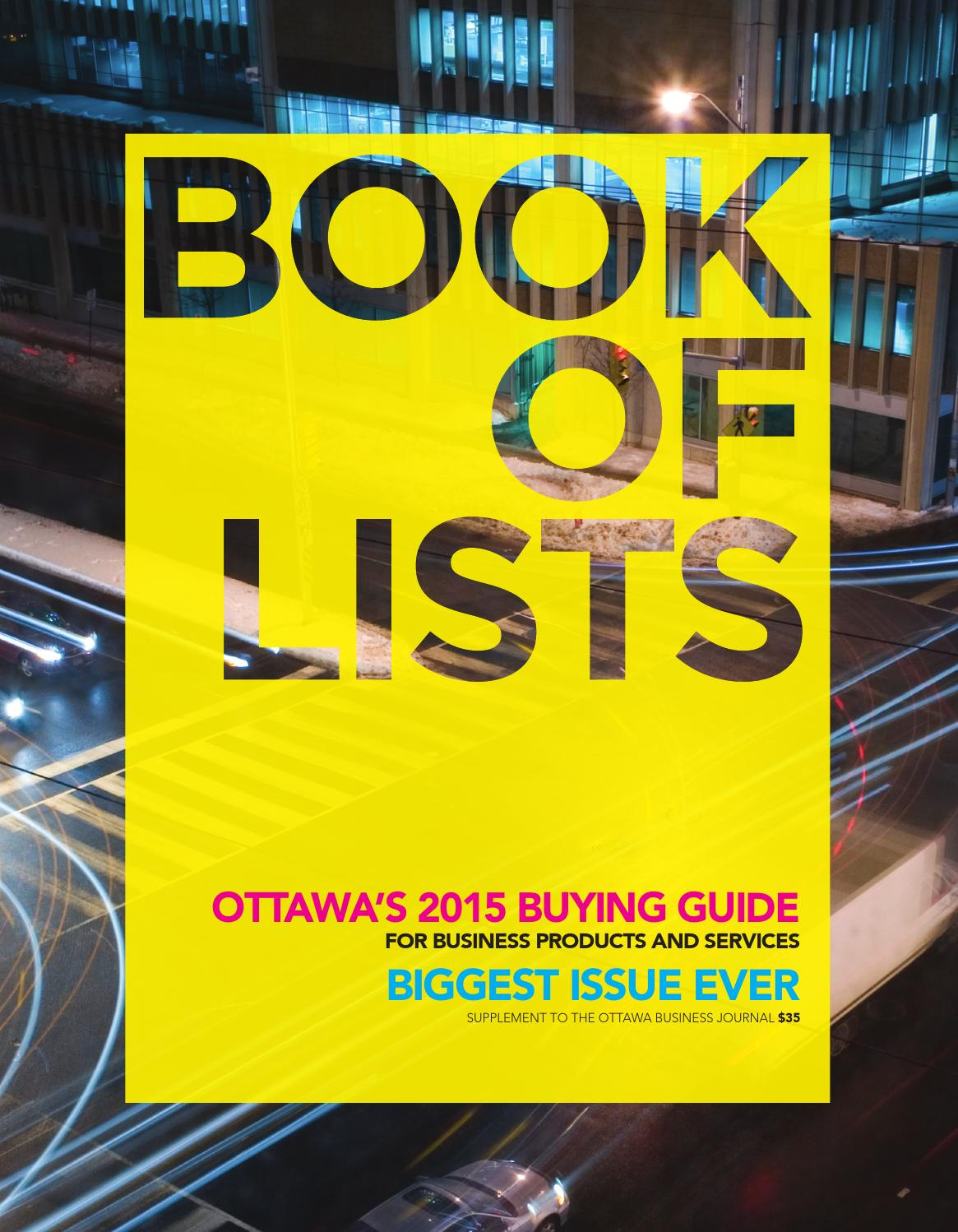 38085c261f7 Ottawa Business Journal - Book of Lists 2015 by Great River Media inc. -  issuu