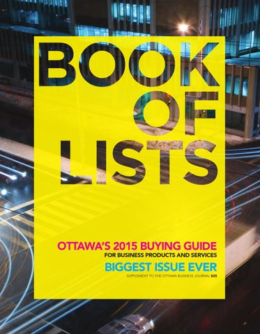 f6c07dac9559e Ottawa Business Journal - Book of Lists 2015 by Great River Media ...