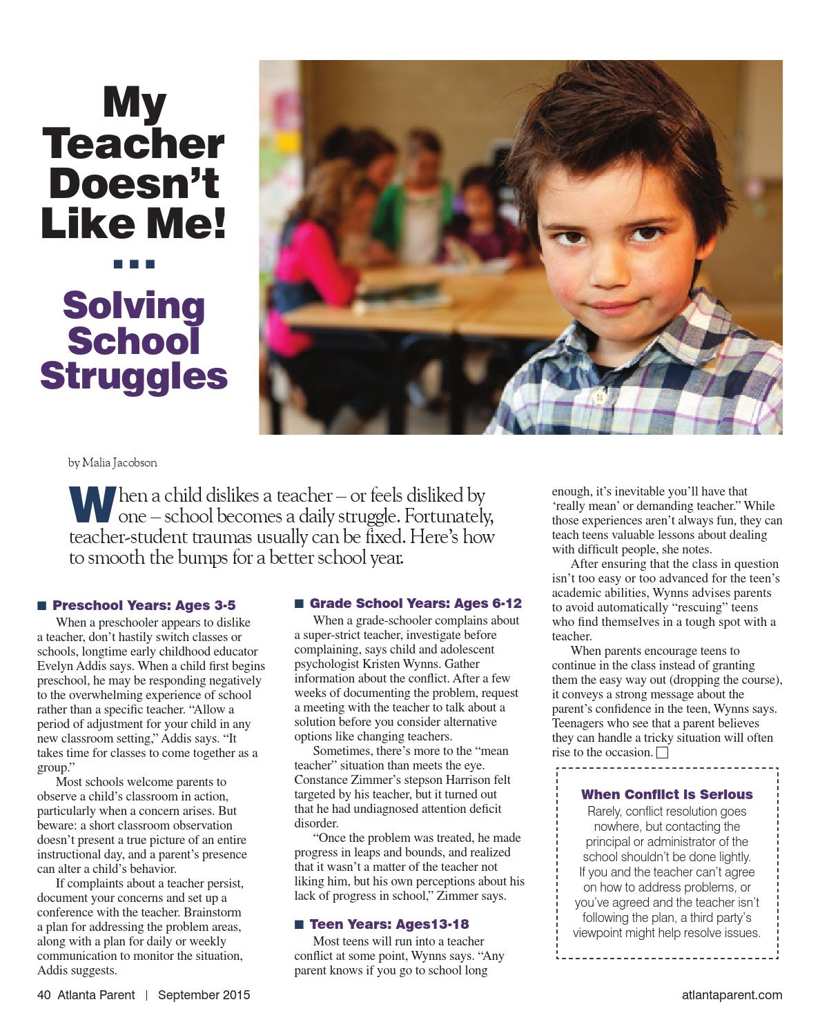 The Teacher Isnt Following My Childs >> September 2015 By Atlanta Parent Issuu