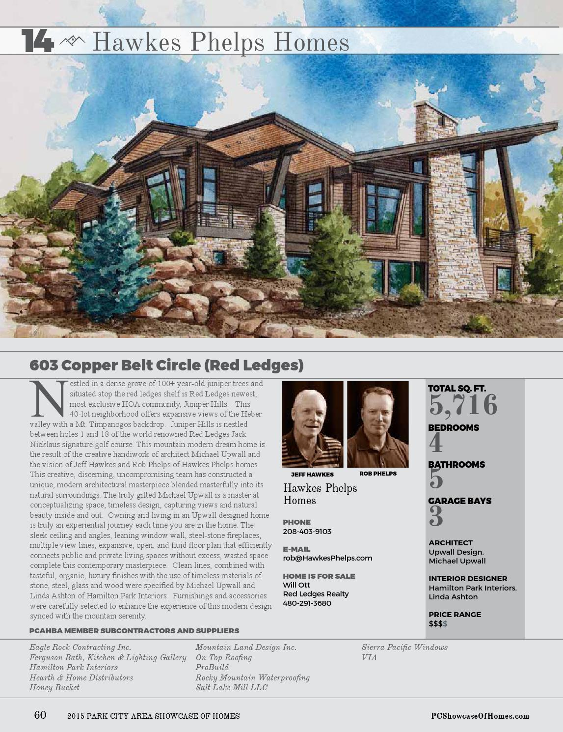 2015 Park City Area Showcase Of Homes By Utah Media Group Issuu