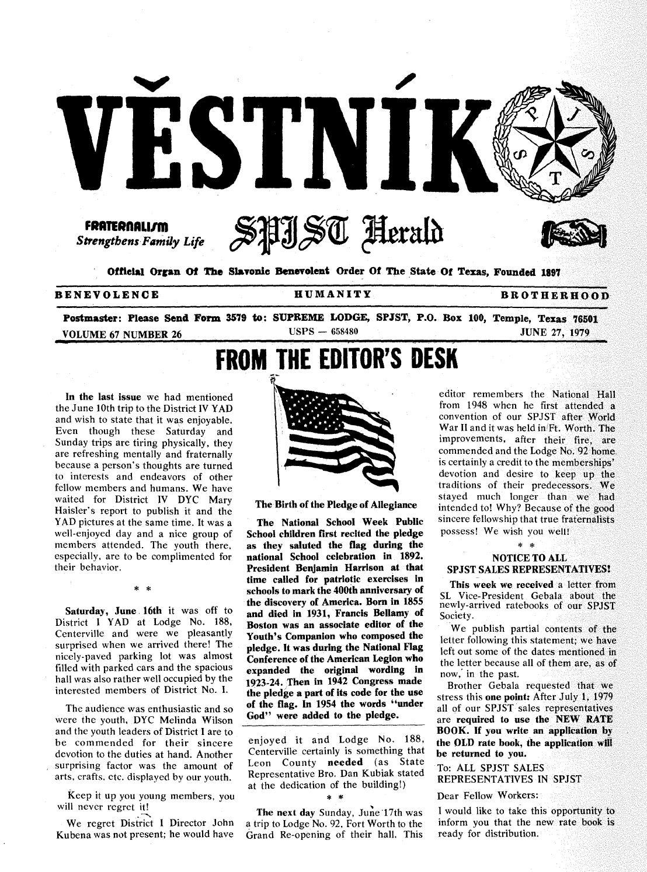 Vestnik 1979 06 27 By SPJST Issuu