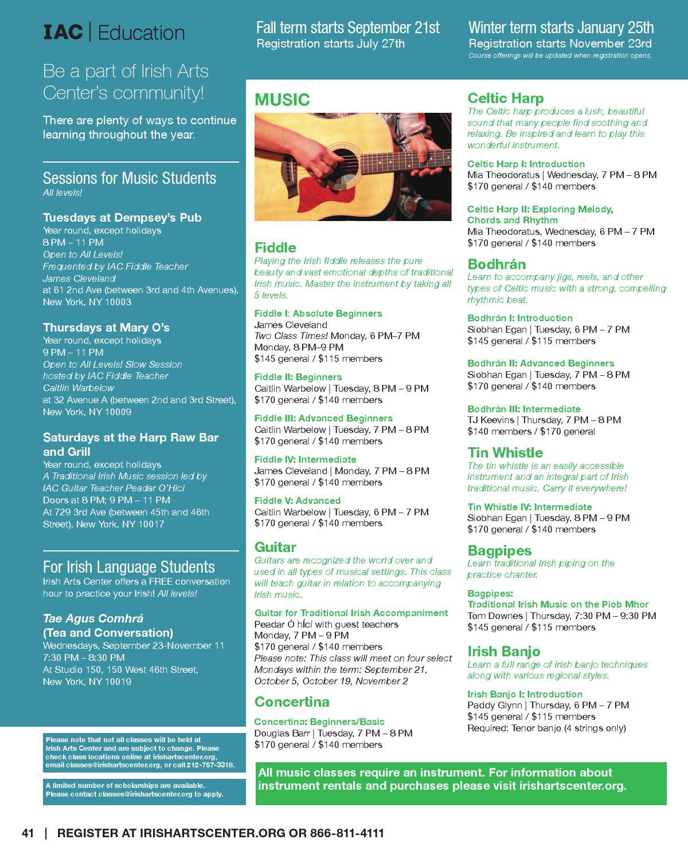 Irish Arts Center New Season by Irish Arts Center | NYC - issuu