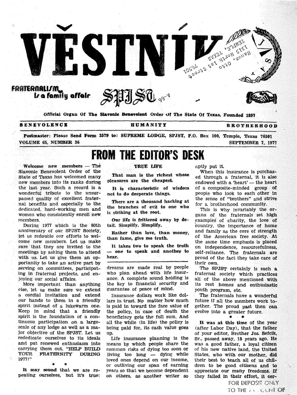 878bb5a934 Vestnik 1977 09 07 by SPJST - issuu