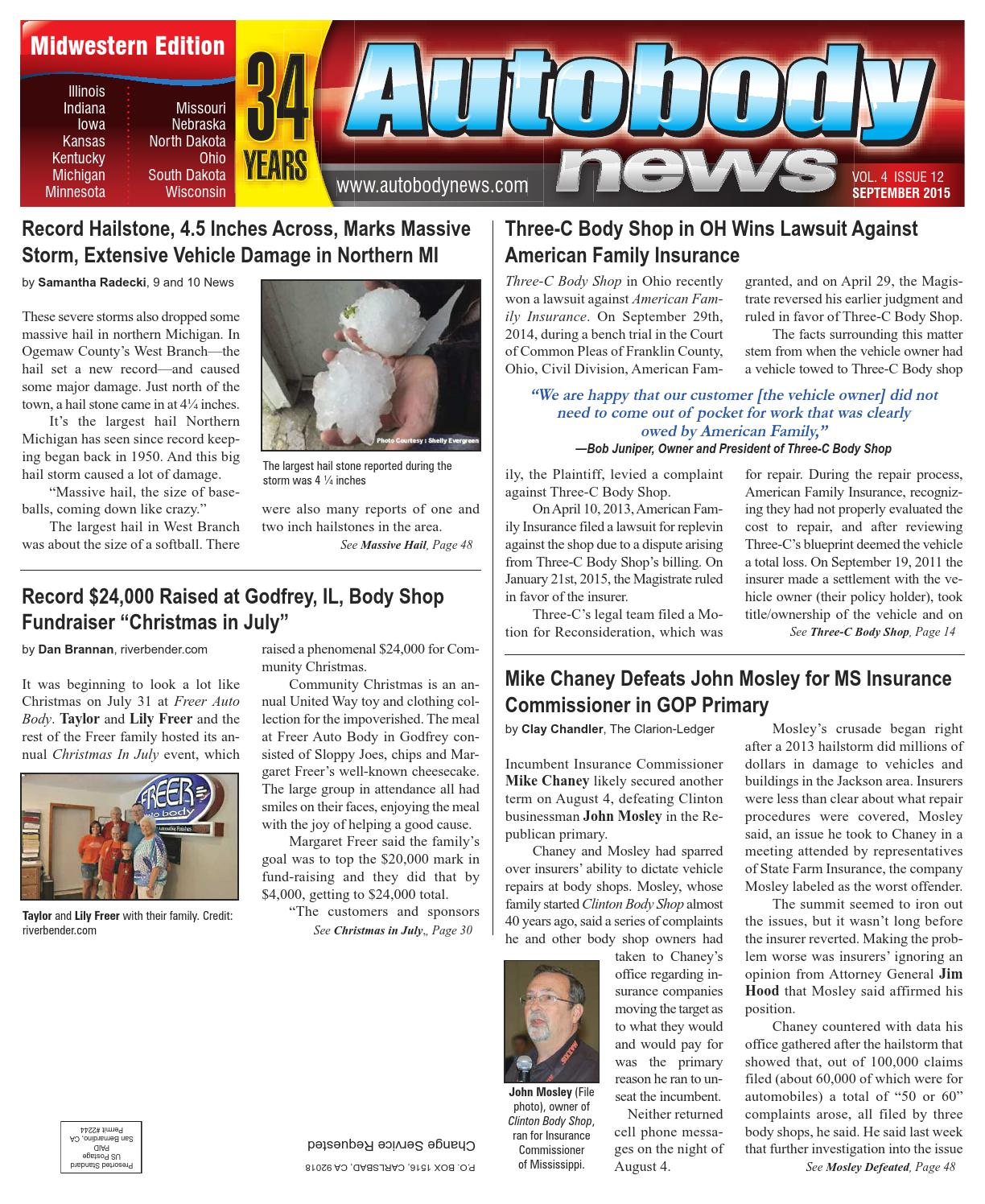 Midwestern September 2015 Issue By Autobody News