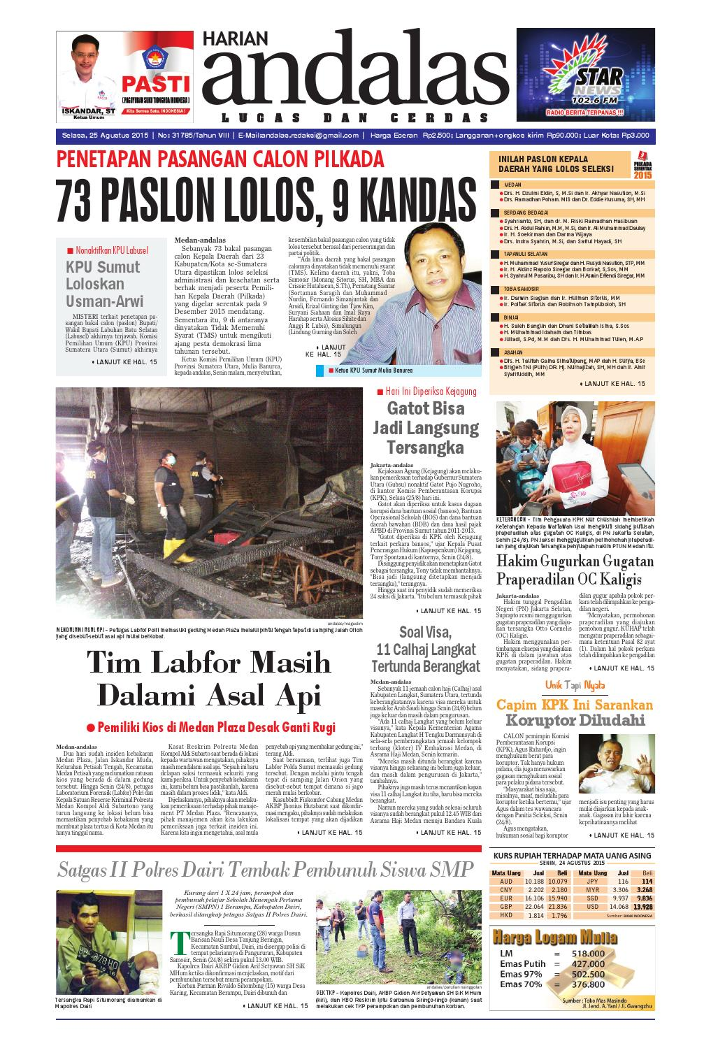 Epaper Andalas Edisi Selasa 25 Agustus 2015 By Media Issuu Fcenter Meja Belajar Sd Hk 9004 Sh Jawa Tengah