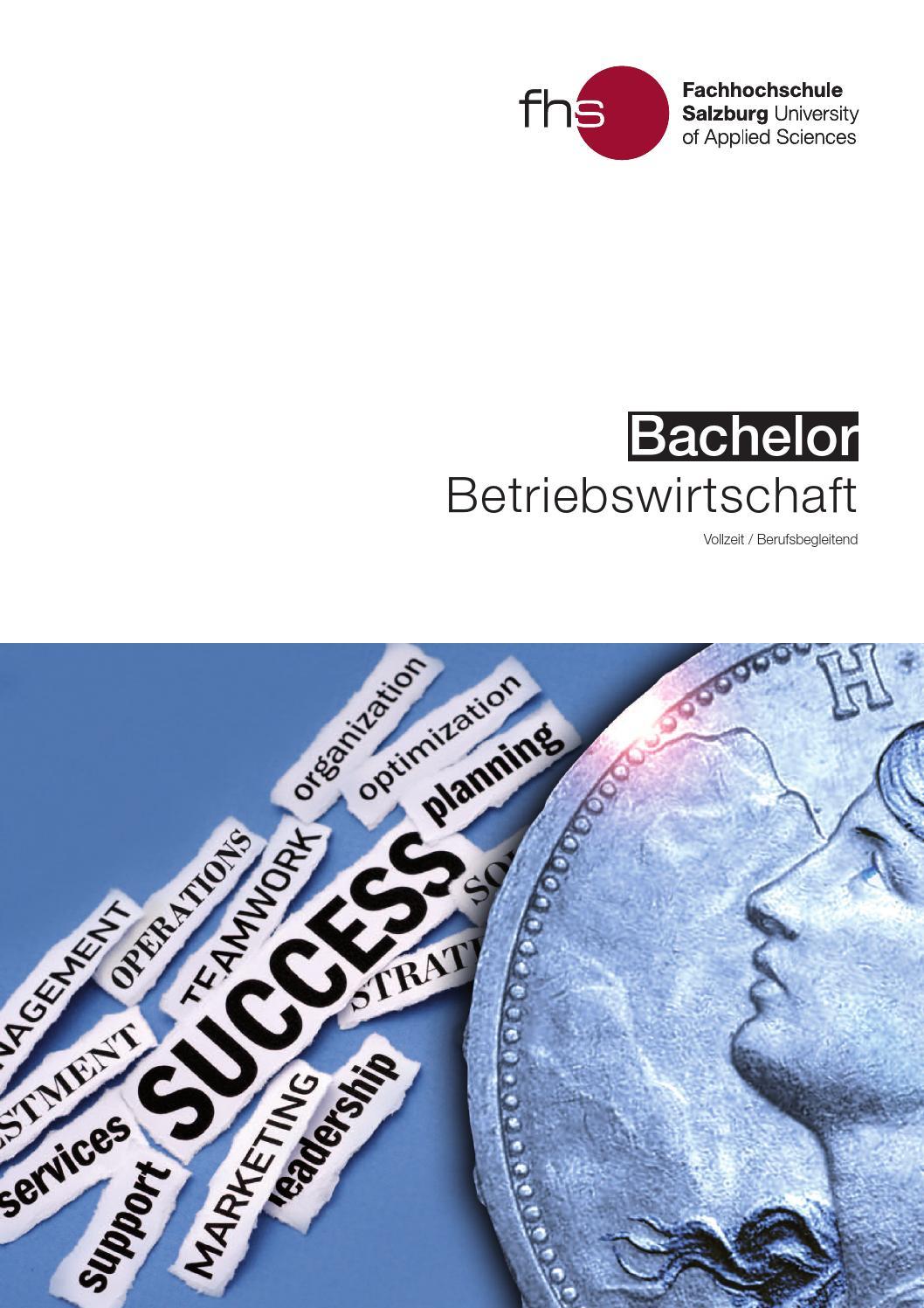 Bachelor f r betriebswirtschaft an der fh salzburg by for Betriebswirtschaft studium