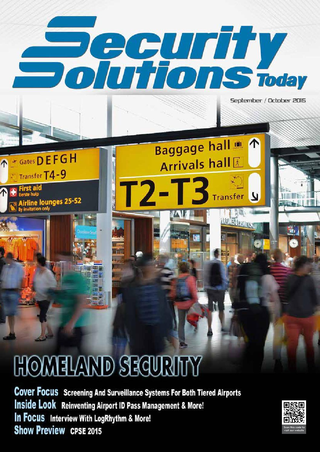 Security Solutions Today Sep Oct 2015 By Security