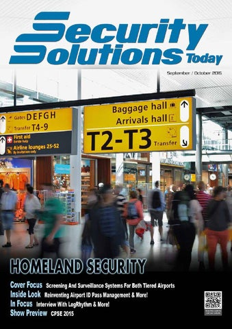 Security Solutions Today : Sep-Oct 2015 by Security Solutions Today