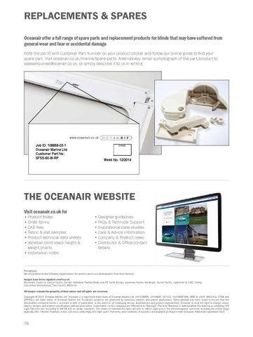 Oceanair Blinds Soft Furnishings Catalogue English By Oceanair