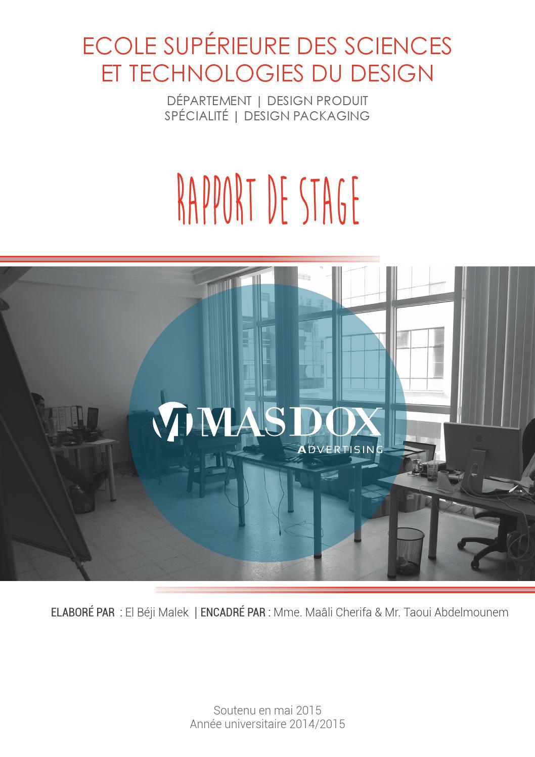 Rapport De Stage Pfe Design Packaging By Malek El Béji Issuu
