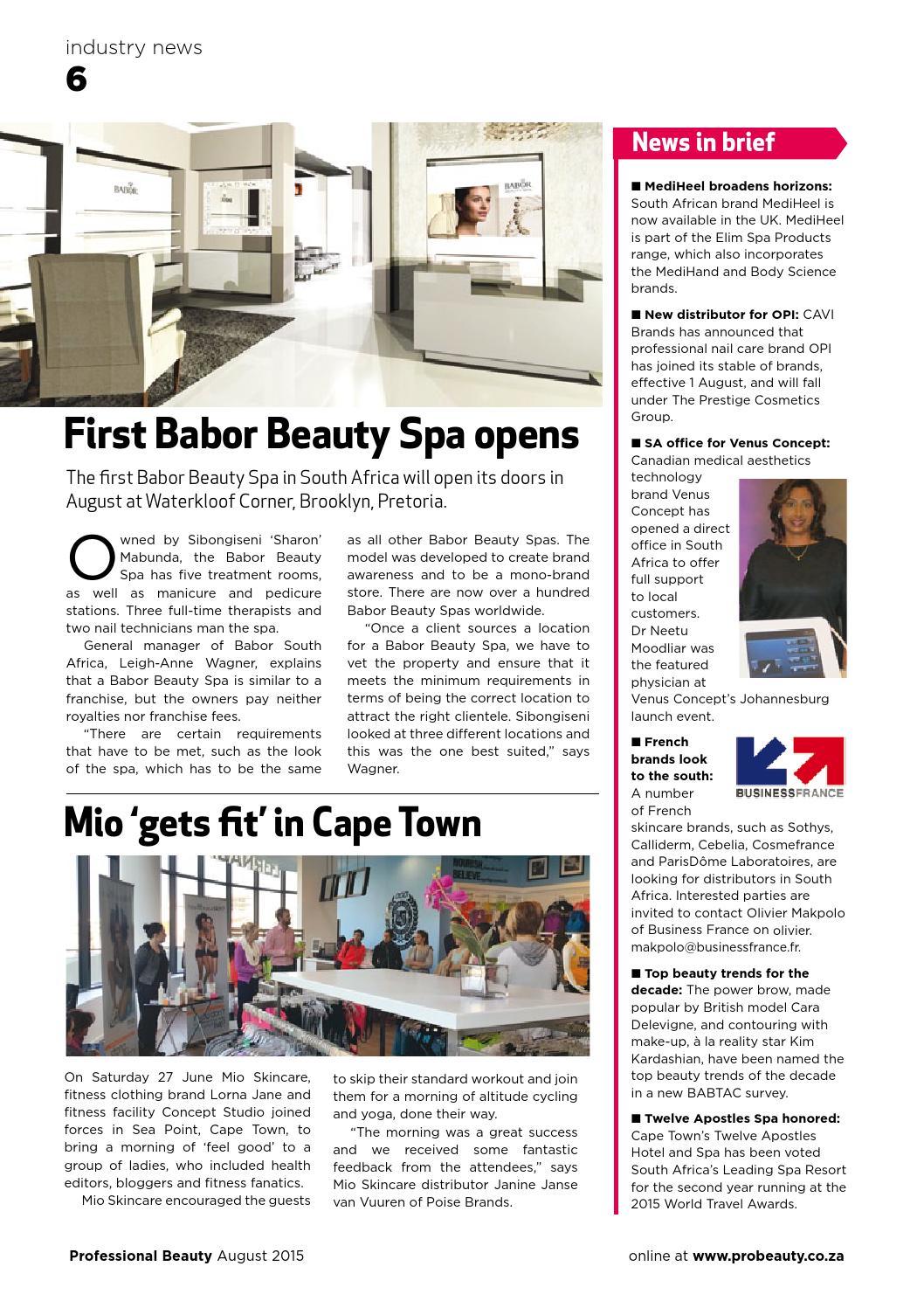Pro beauty aug 2015 by Professional Beauty SA - issuu