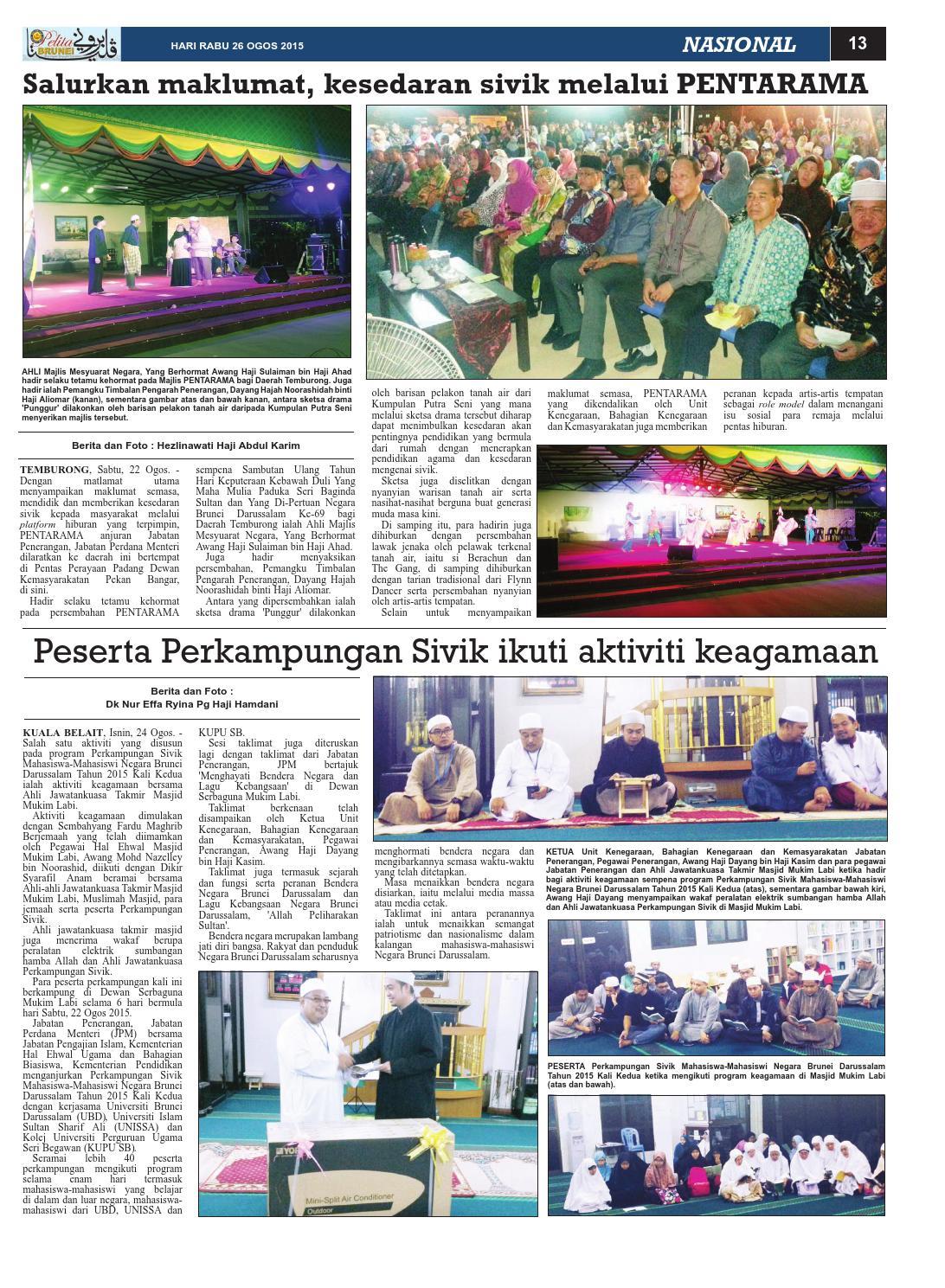 Pelita Brunei Rabu 26 Ogos 2015 By Putera Katak Brunei Issuu