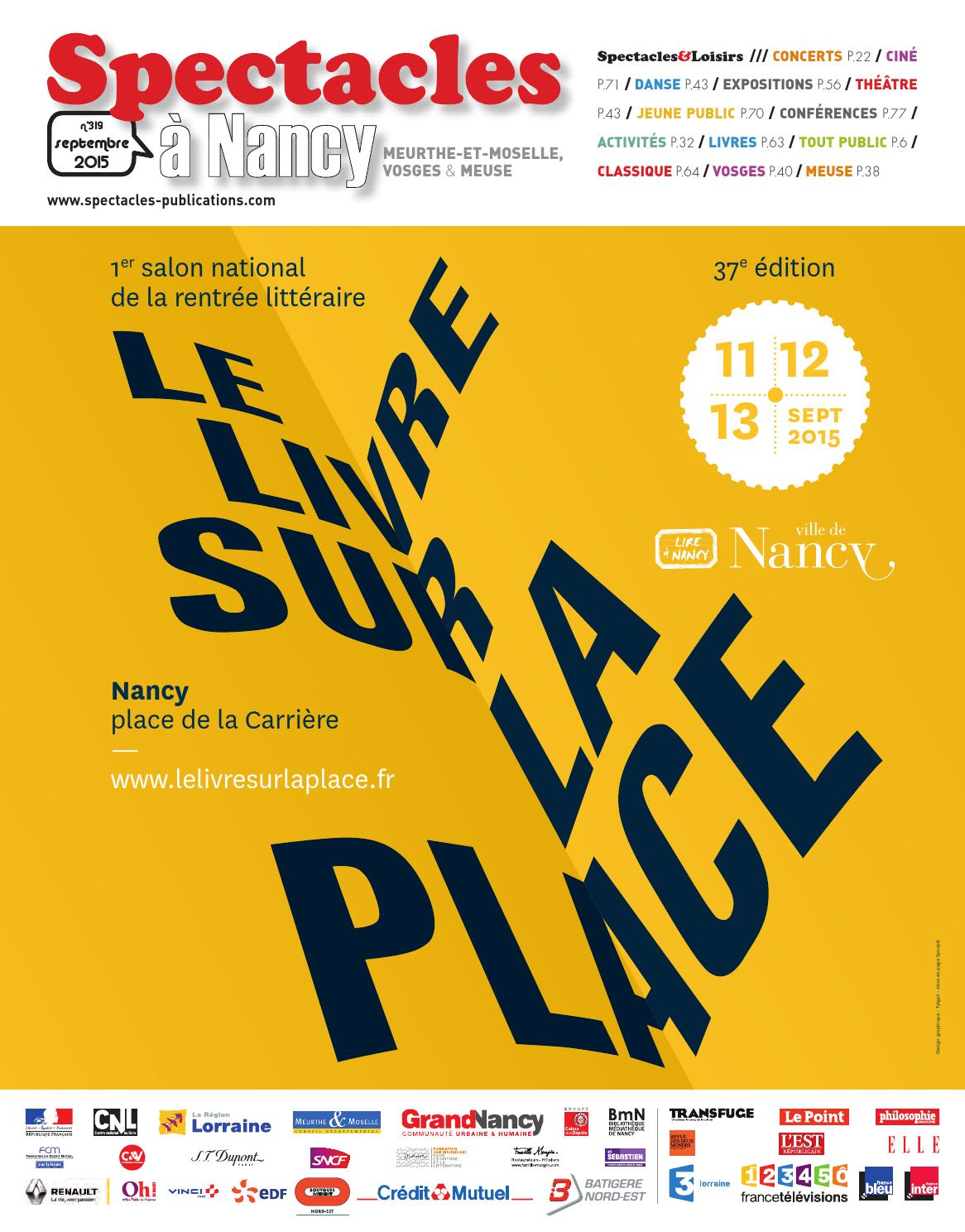Spectacles Publications Nancy n°319 / Septembre 2015 by