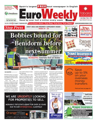 203dc3244f8f2 Euro Weekly News - Costa Blanca North 27 August - 2 September 2015 Issue  1573