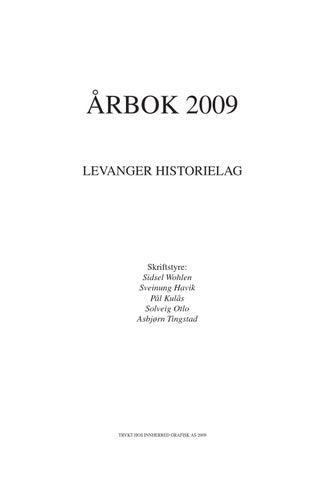 afcd5031 Levanger historielag - Årbok 2009 by Levanger historielag - issuu