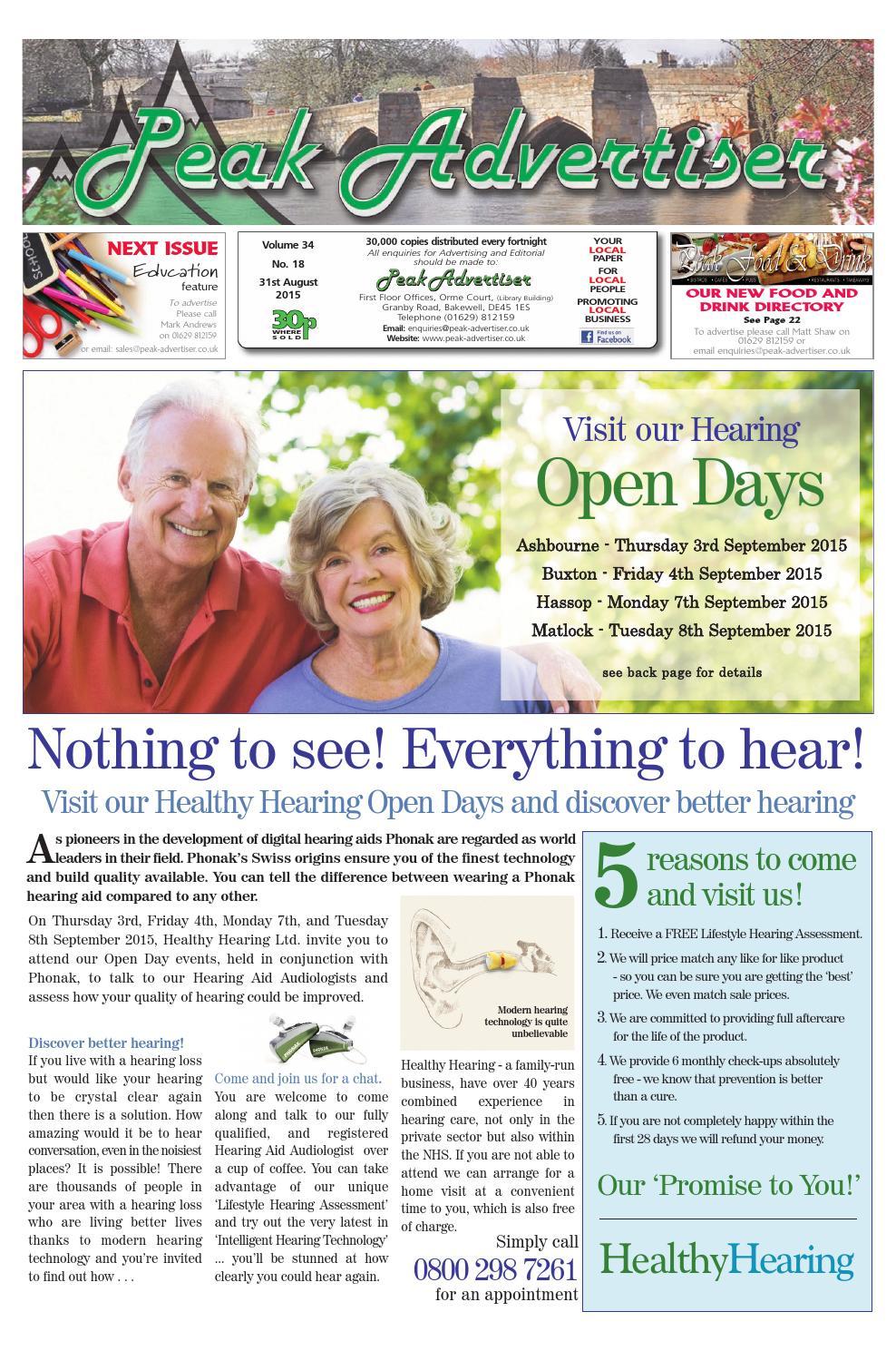 Peak Advertiser 31st August 2015 by Peak Advertiser - issuu
