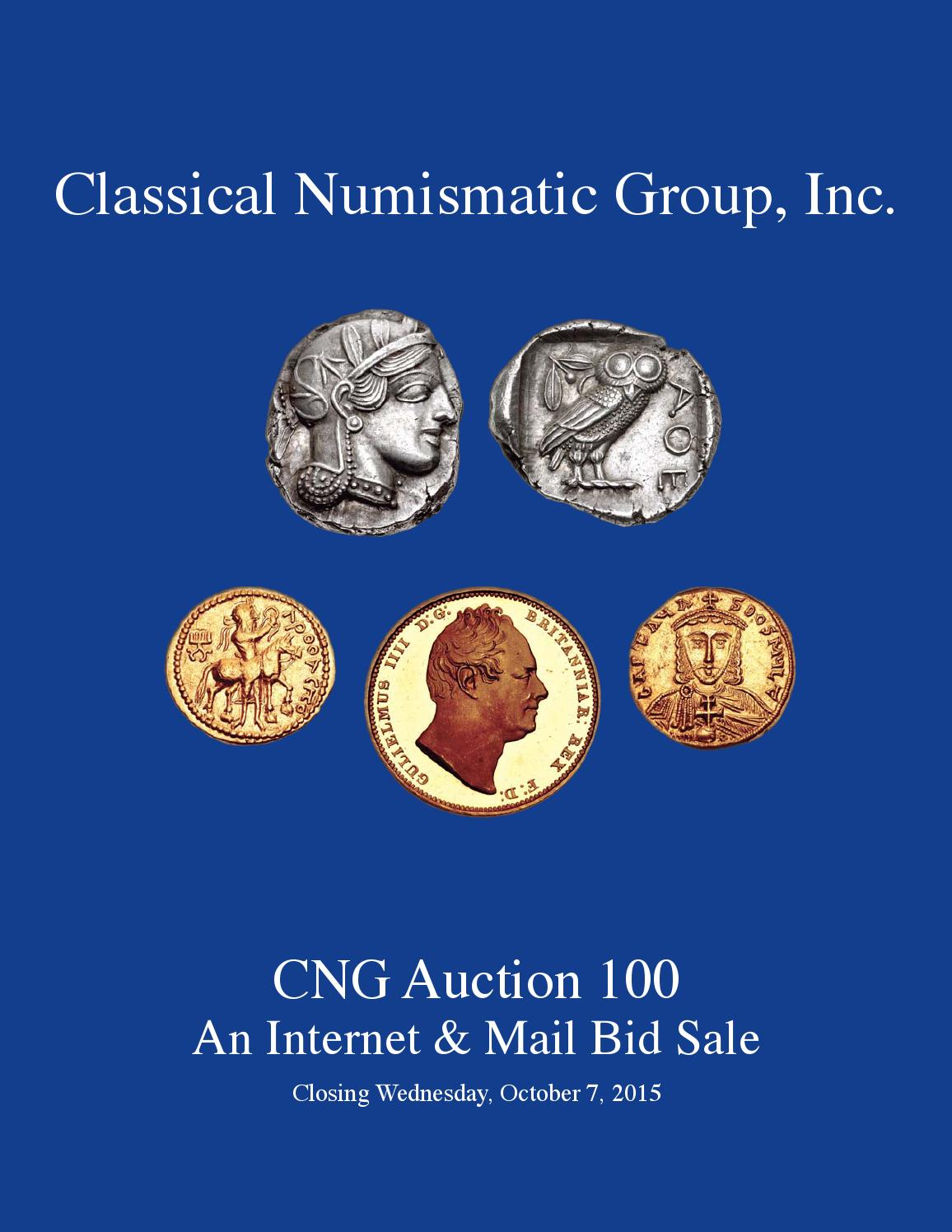 CNG MBS 100 Virtual Catalog By Classical Numismatic Group Inc Issuu