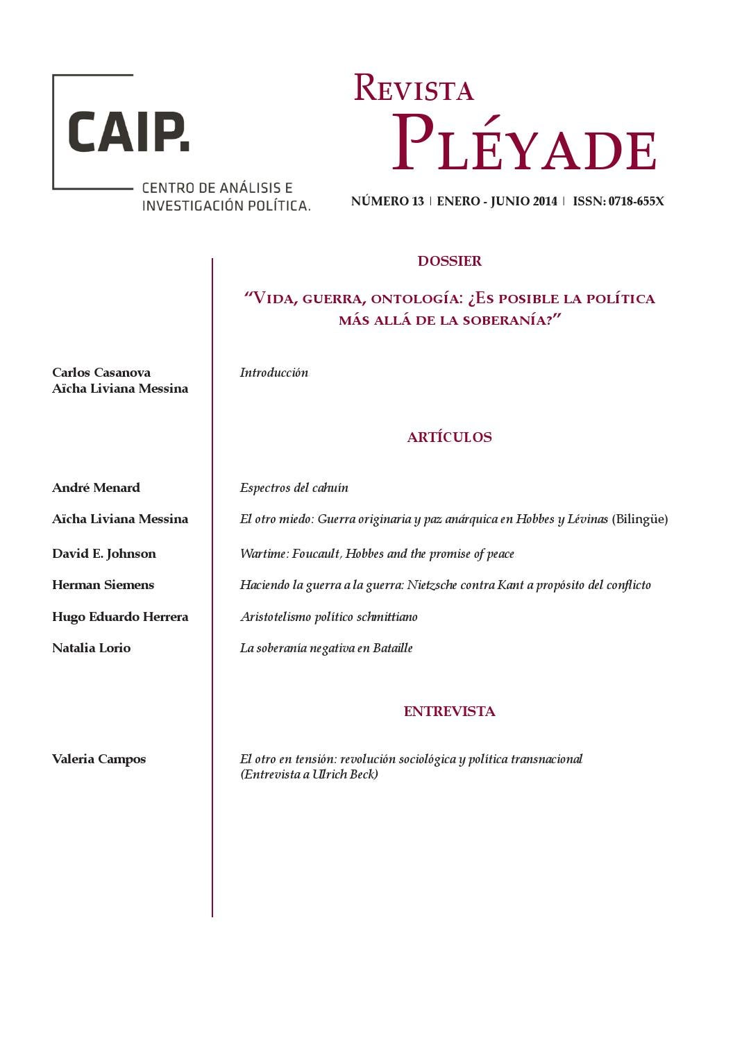 Revista Pléyade Nº 13 by Revista Pléyade - issuu