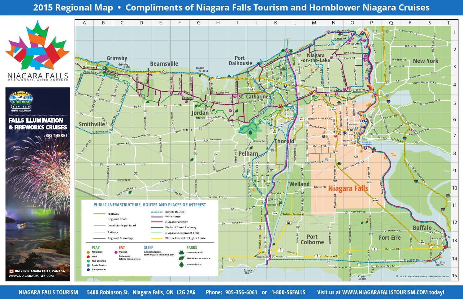 Niagara Region Map By Niagara Falls Tourism Issuu