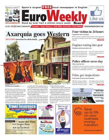 Euro Weekly News - Axarquia 27 August - 2 September 2015