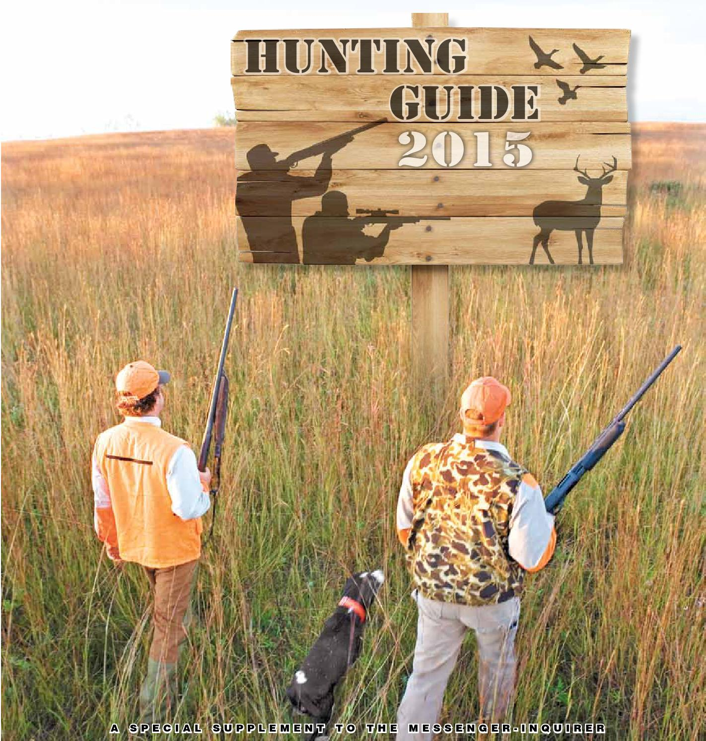 2015 hunting guide by messenger inquirer issuu for Kmart fishing license