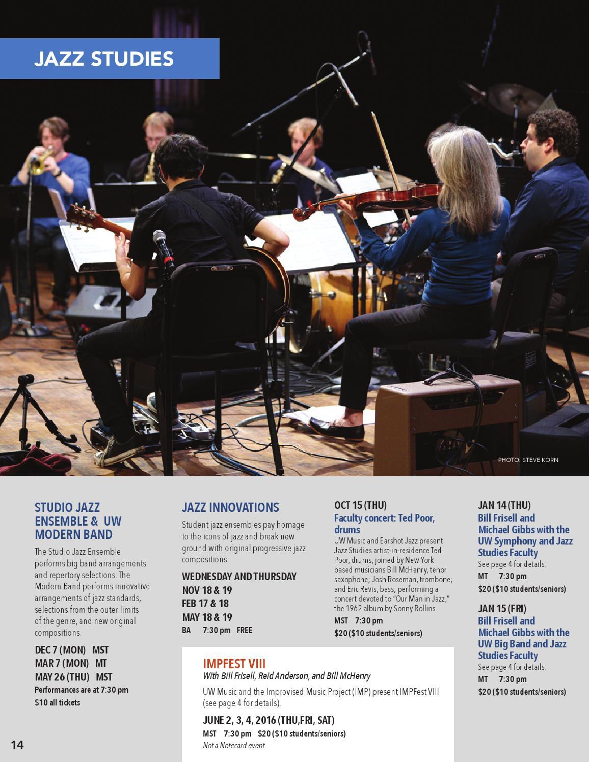UWMusic 2015-16 Concert Season