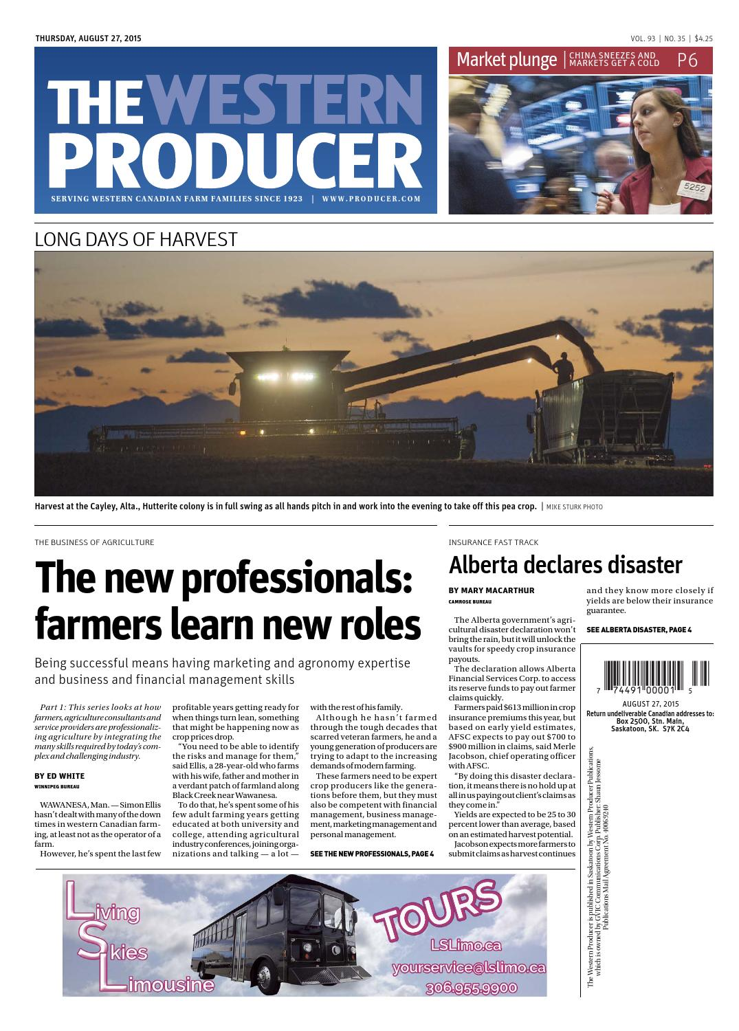 The Western Producer August 27 2015 By Issuu Bmw Fan Switch Volvo Controller Ford Mustang Forums Corral