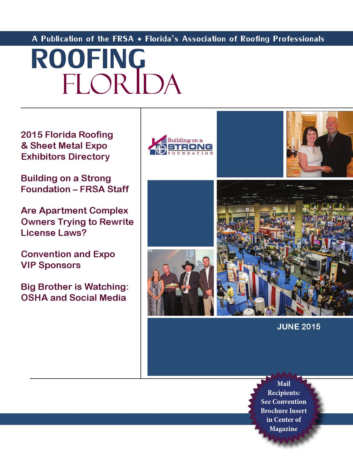 ROOFING FLORIDA - June 2015 by Florida Roofing Magazine - issuu