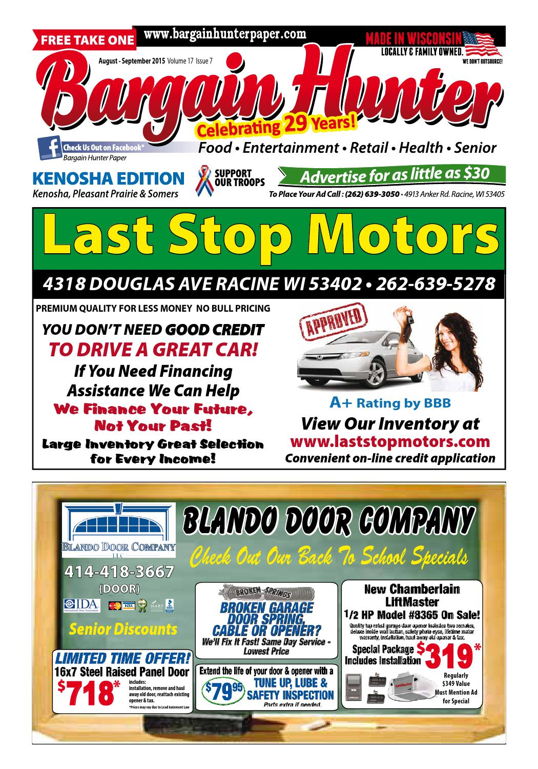 Bargain hunter kenosha august 2015 by jeff scott issuu for Drive away motors inventory