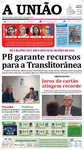 269dd2d25af93 Jornal A União - 27 08 2015 by Jornal A União - issuu