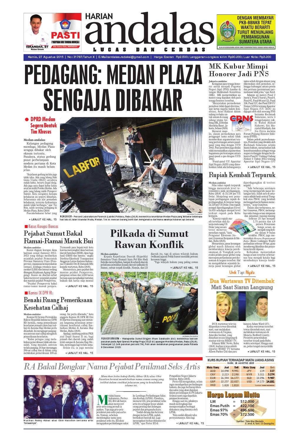 Epaper Andalas Edisi Kamis 27 Agustus 2015 By Media Issuu Produk Ukm Bumn Nabilla Biru Donker Ty Hijab