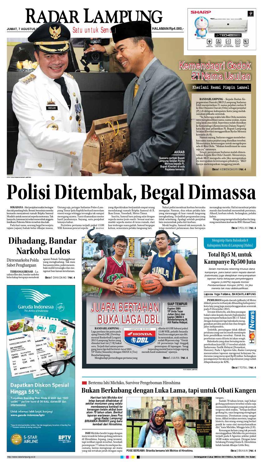 Radar Lampung Jumat 7 Agustus 2015 By Ayep Kancee Issuu Loop Hardiknas Voucher Indomaret Rp 200000