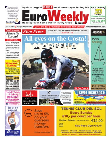 Euro Weekly News Costa Del Sol 27 August 2 September