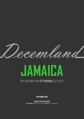 Jamaica by jpnfort issuu decemland jamaica country profile sciox Gallery